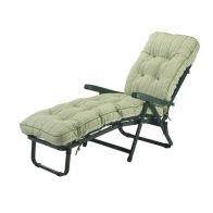 See more information about the Glendale Deluxe Repose Stripe Recliner Sunbed Sage