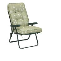 See more information about the Glendale Deluxe Slumber Floral Recliner Chair Sage