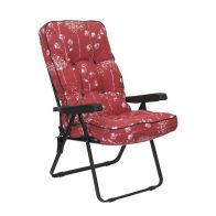 See more information about the Glendale Deluxe Slumber Floral Recliner Chair Red