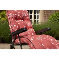 See more information about the Glendale Deluxe Slumber Floral Relaxer Chair Red