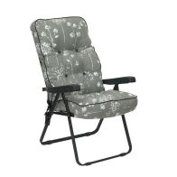 See more information about the Glendale Deluxe Slumber Floral Recliner Chair Grey