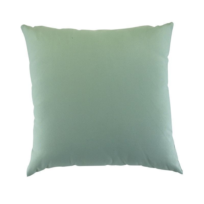 Glendale Plain 12 Inch Square Scatter Cushion Misty Green