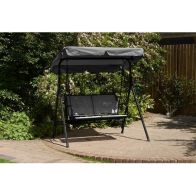 See more information about the Glendale Barcelona Textaline Twin Swing Hammock Grey