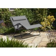 See more information about the Glendale Barcelona Textaline Twin Recliner Chair Grey