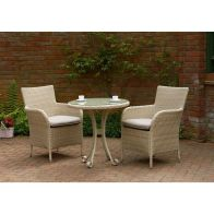 See more information about the Glendale Toulouse Rattan Bistro Set Neutral