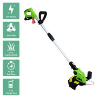 See more information about the Cordless Portable Garden Grass Trimmer Edger Green 20V