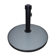See more information about the Concrete Round Garden Umbrella Parasol Base Grey 15kg