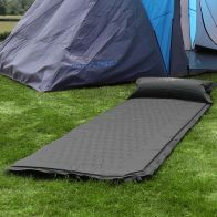 See more information about the Bentley Self-Inflating Camping Mat with Pillow Black Single