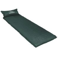 See more information about the Self Inflating Camping Roll Mat With Pillow - Dark Green