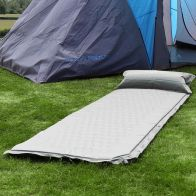 See more information about the Bentley Self-Inflating Camping Mat with Pillow Grey Single