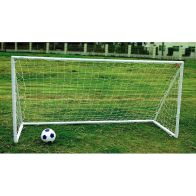 See more information about the Kids Junior 8 Foot x 4 Foot Plastic Portable White Football Goal