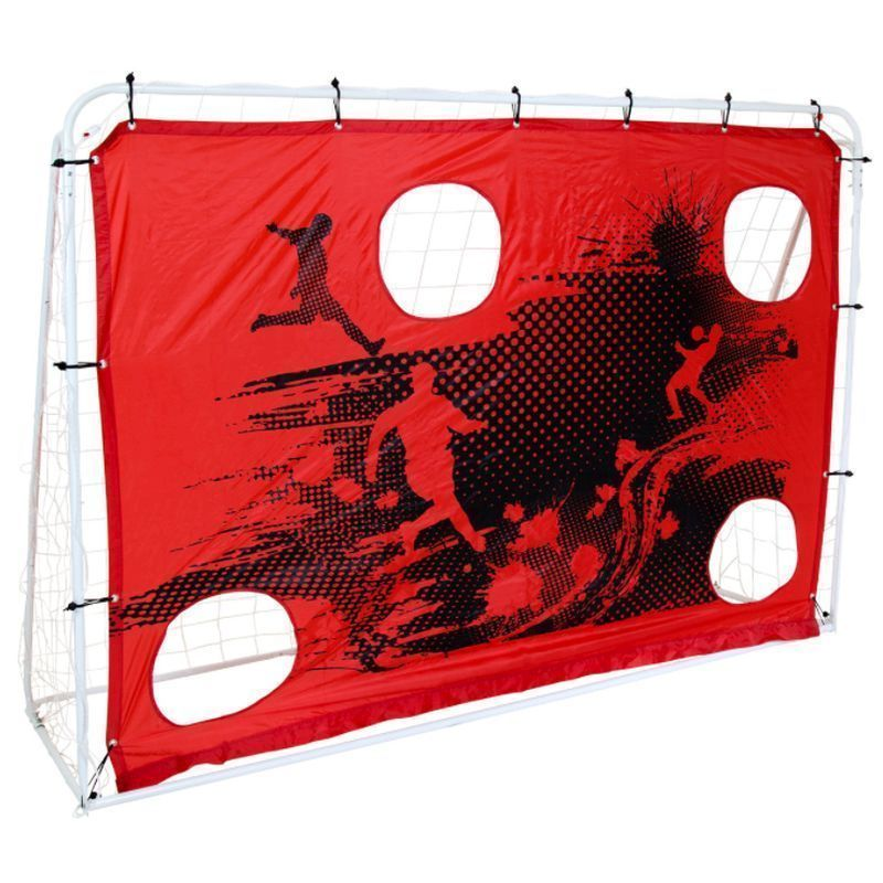 3-In-1 Target Shoot Sturdy Steel Frame Football Goal & Net