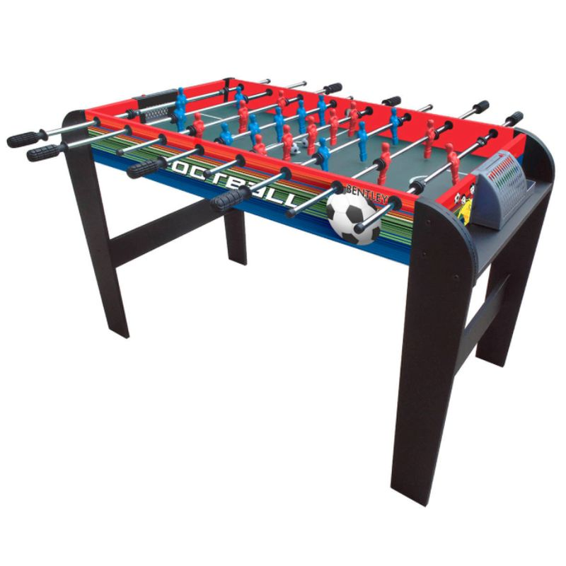 4 Foot Football Table Soccer Fusball Gaming Table Non-Slip Handles