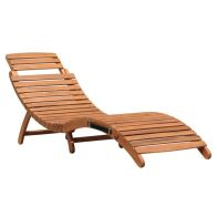 See more information about the Charles Bentley FCS Acacia Hardwood Large Curved Folding Sun Lounger