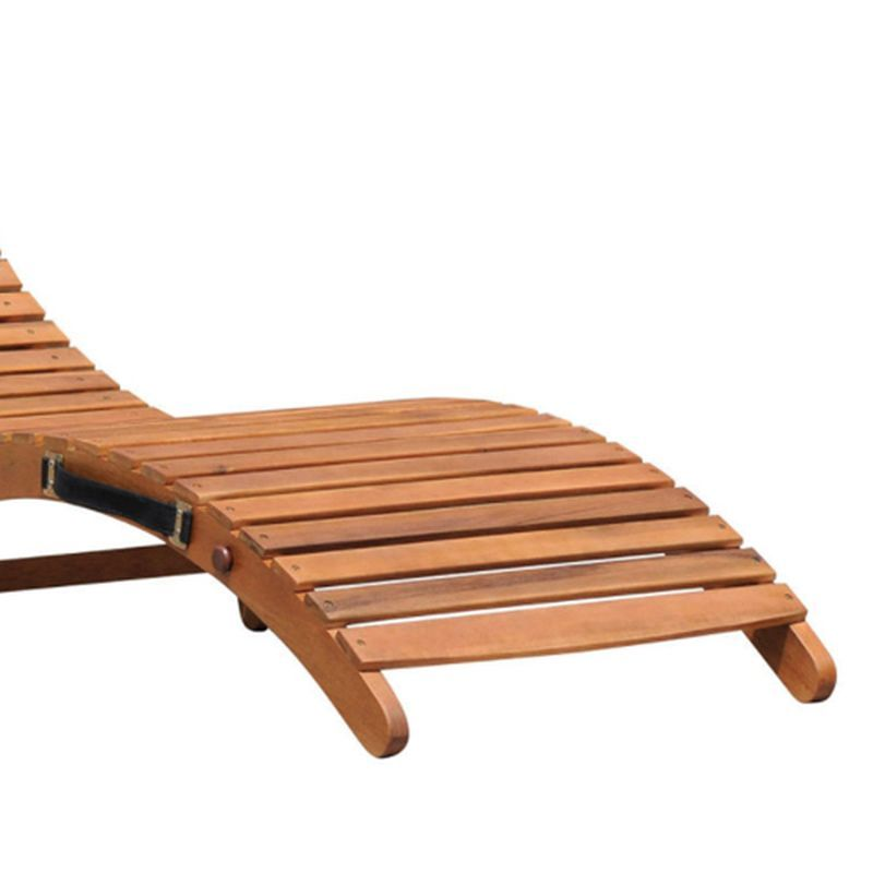 large wooden folding curved sun lounger buy online at qd. Black Bedroom Furniture Sets. Home Design Ideas