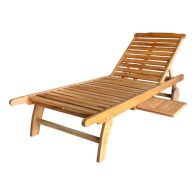 See more information about the Charles Bentley FSC Acacia Hardwood Sun Lounger with Pull Out Tray