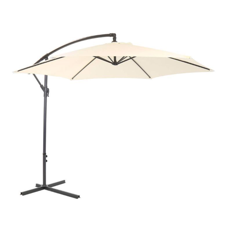 Bentley 3M Cream Garden Hanging Banana Crank Parasol