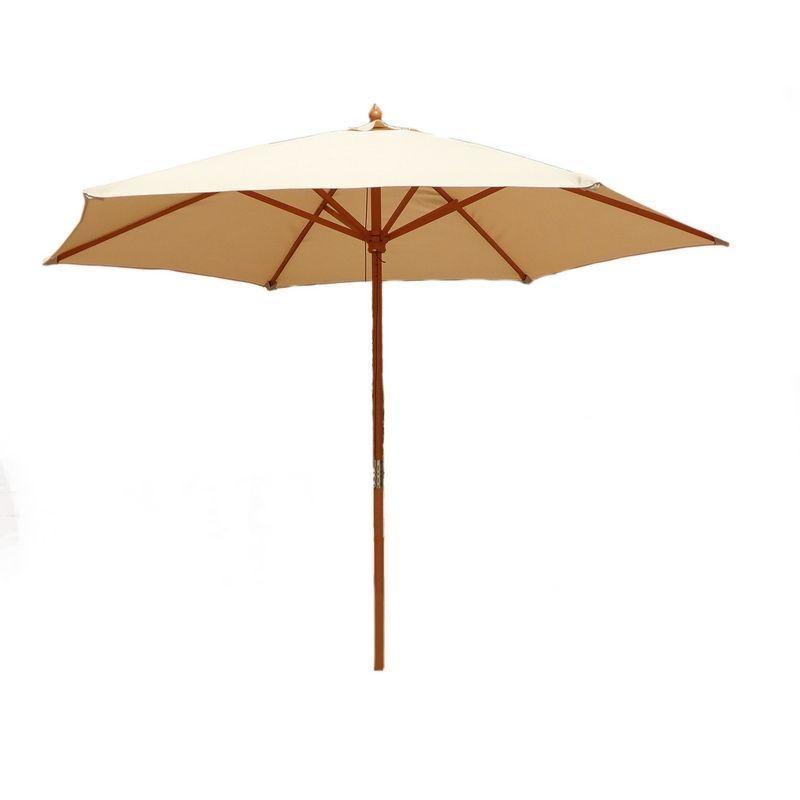 Wooden Large Garden Umbrella Parasol 24m