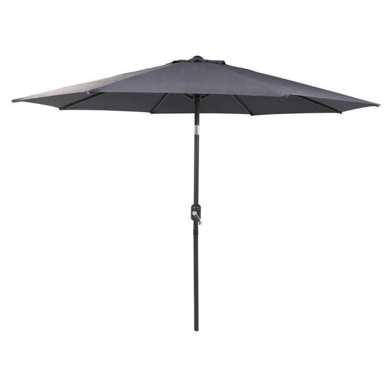 bentley 2 7m grey metal garden crank tilt parasol buy online at qd stores. Black Bedroom Furniture Sets. Home Design Ideas