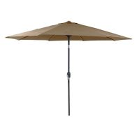 See more information about the Metal Garden Umbrella Parasol with Crank & Tilt Taupe