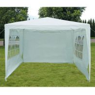 See more information about the Showerproof Garden Gazebo White 3M x 3M