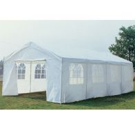 See more information about the Large Showerproof Garden Gazebo White 8M x 4M