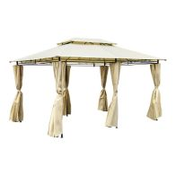 See more information about the Steel Art Marquee Garden Gazebo with Side Curtains Beige 3M x 4M
