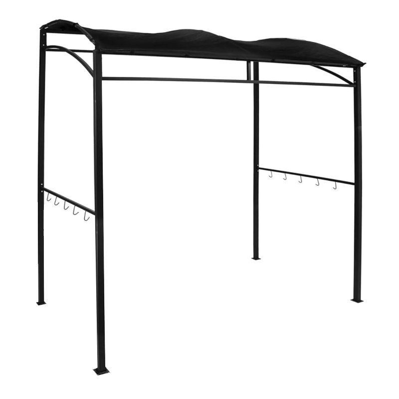 Rectangle Barbecue BBQ Gazebo Shelter Canopy - Black