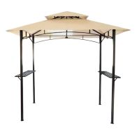 See more information about the 8ft x 5ft Steel Grill Garden Outdoor Gazebo - Beige