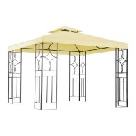 See more information about the Luxury Steel Art Marquee Garden Gazebo Cream 3M x 3M