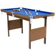 See more information about the Junior 4 Foot American Blue Pool Table With Pool Balls And 2 Cues