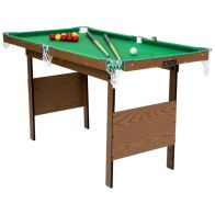 See more information about the 2-in-1 Kids Junior 4Foot Green Indoor Snooker & Pool Games Table