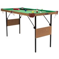 See more information about the 2-in-1 4 Foot 6 Inch Green Snooker & Pool Games Table Including Balls