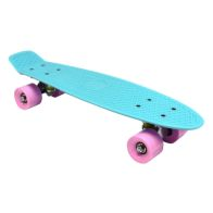 "See more information about the 22"" Retro Cruiser Mini Plastic Skateboards - Aqua"