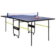 See more information about the 3/4 Junior Folding Table Tennis Table 6 Foot 9 Inch - Bats Balls & Net