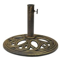 See more information about the 12kg Cast Iron Round Patio Umbrella Parasol Base Stand - Bronze