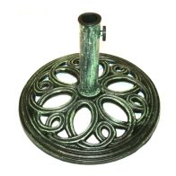 See more information about the 12kg Cast Iron Round Umbrella Parasol Base Stand - Green