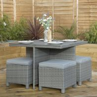 See more information about the Rattan & Polywood Cube Garden Dining Furniture Set