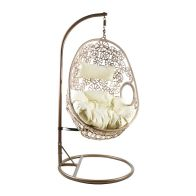 See more information about the Rattan Hanging Garden Swing Chair Cushion Sand
