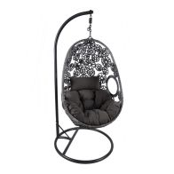 See more information about the Rattan Hanging Garden Swing Chair Cushion Grey