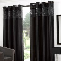 "See more information about the Glitz Eyelet Curtains (45"" Width x 54"" Drop) - Black"