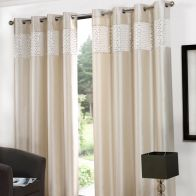 "See more information about the Glitz Eyelet Curtains (90"" Width x 90"" Drop) - Cream"
