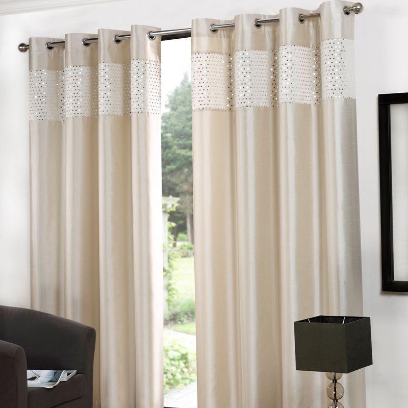 glitz eyelet curtains 90 width x 90 drop cream buy. Black Bedroom Furniture Sets. Home Design Ideas