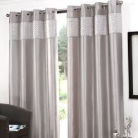 "See more information about the Glitz Eyelet Curtains (90"" Width x 90"" Drop) - Silver"