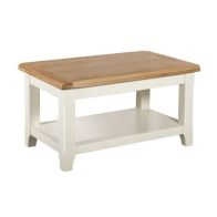 See more information about the Harmony Small Coffee Table Oak & White 1 Shelf