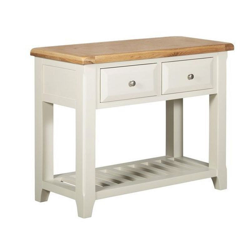 Harmony White 2 Drawer Console Table