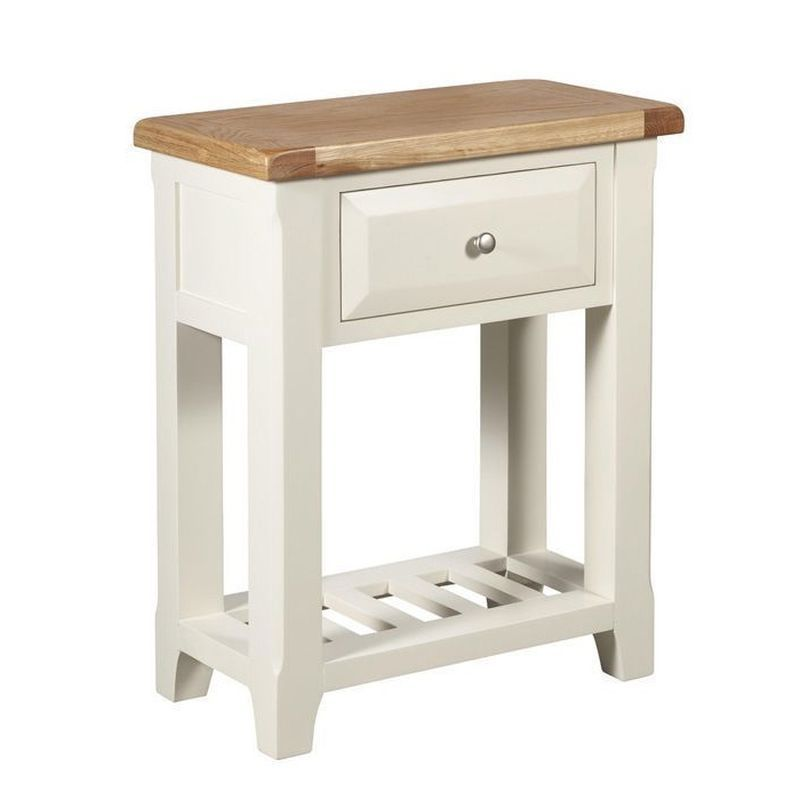 Harmony White 1 Drawer Console Table