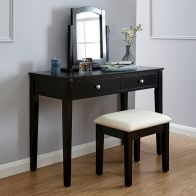 See more information about the Hattie Black Dressing Table & Stool Set