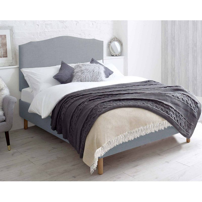 Hawkshead Pine Blue 4ft 6in Double Bed Frame