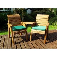 See more information about the Charles Taylor 2 Seat Companion Angled Garden Bench With Green Cushion